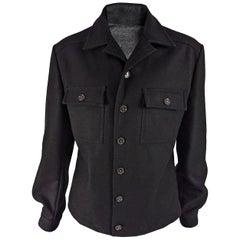 Dolce & Gabbanna D&G Vintage Mens Black Wool Jacket