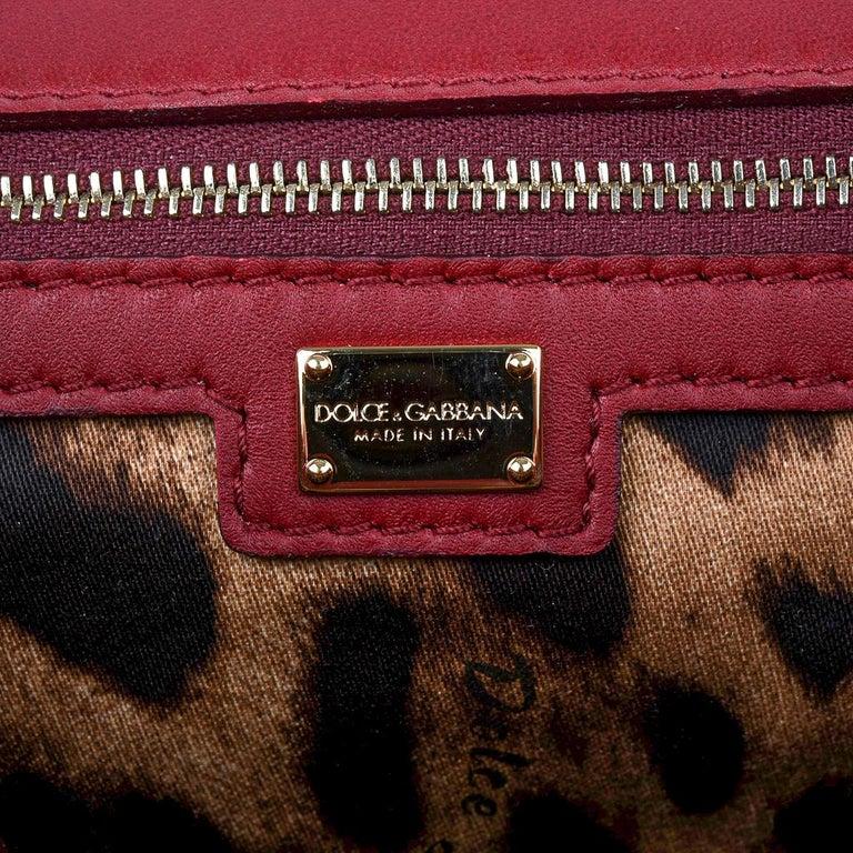 Dolce&Gabbana Bag Jewel Toned Lush Crochet Snakeskin Handle For Sale 10