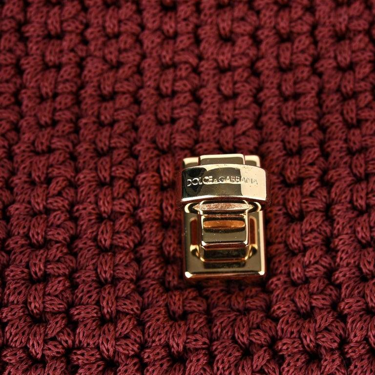 Dolce&Gabbana Bag Jewel Toned Lush Crochet Snakeskin Handle For Sale 3