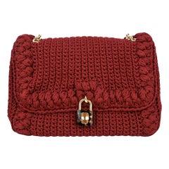 Dolce&Gabbana Bag Jewel Toned Lush Crochet Snakeskin Handle