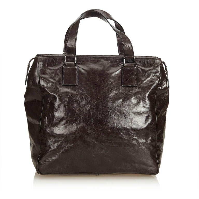 Dolce&Gabbana Black Leather Handbag In Good Condition For Sale In Orlando, FL