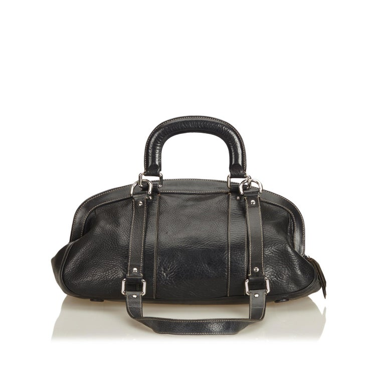 Dolce&Gabbana Black Leather Satchel In Good Condition For Sale In Orlando, FL