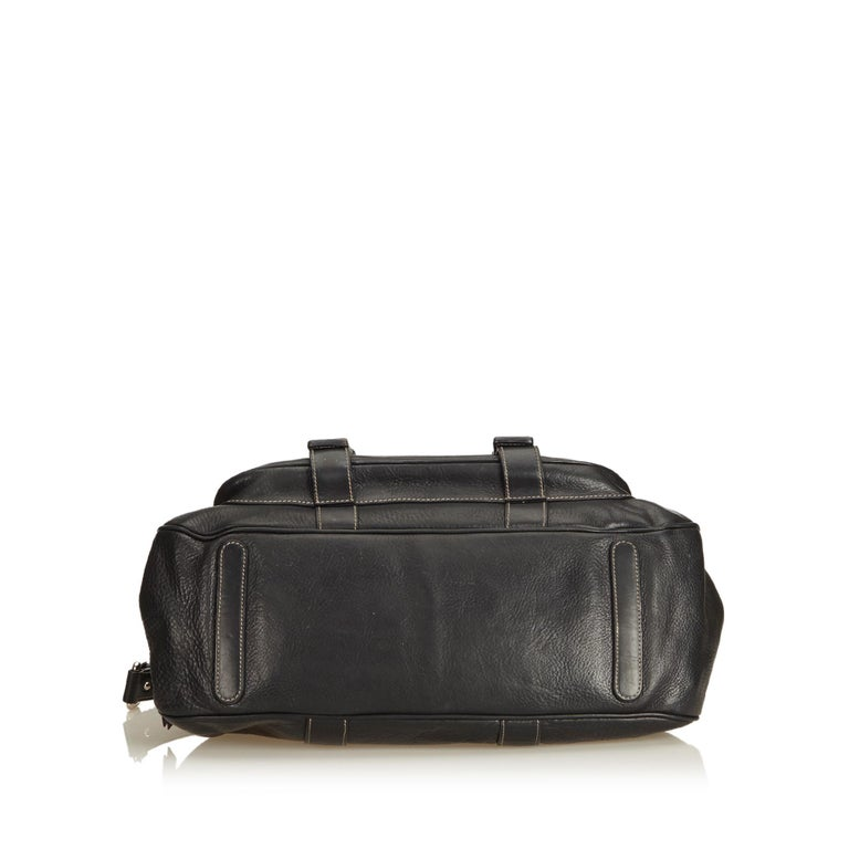 Women's Dolce&Gabbana Black Leather Satchel For Sale