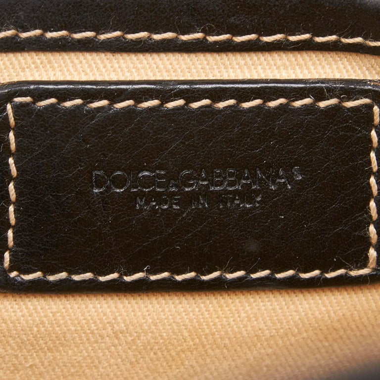 Dolce&Gabbana Black Leather Satchel For Sale 2