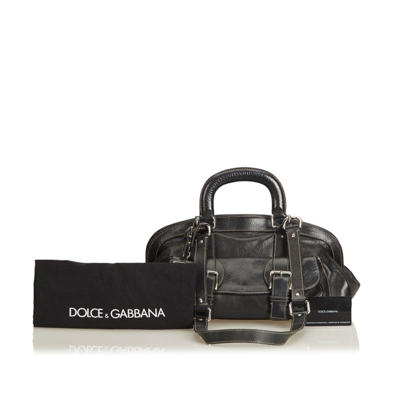Dolce&Gabbana Black Leather Satchel For Sale 5