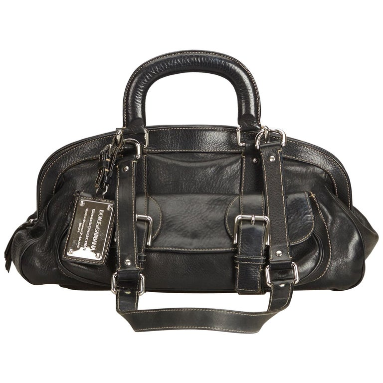 Dolce&Gabbana Black Leather Satchel For Sale