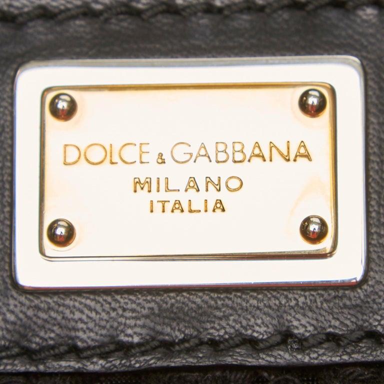 Dolce&Gabbana Black Miss Helen Crochet Tote For Sale 2