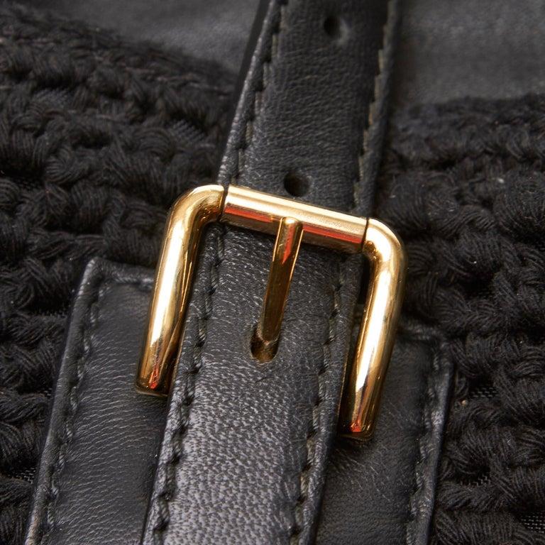 Dolce&Gabbana Black Miss Helen Crochet Tote For Sale 3