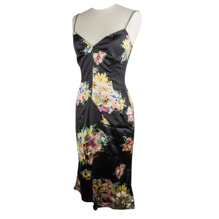 Women's Dolce&Gabbana Dress Floral Print w/ Shawl 44 / 8 New For Sale