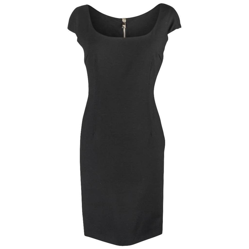 Dolce&Gabbana Dress Sheath Bold Rear Zipper Sleek 42 / 6 to 8