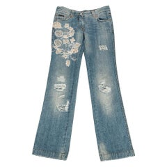 Dolce&Gabbana Embellished Distressed Jean Smashing Details 42 new