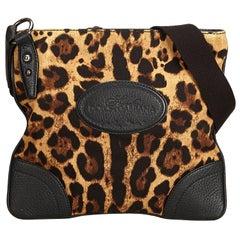 Dolce&Gabbana Leopard Printed Cotton Crossbody Bag