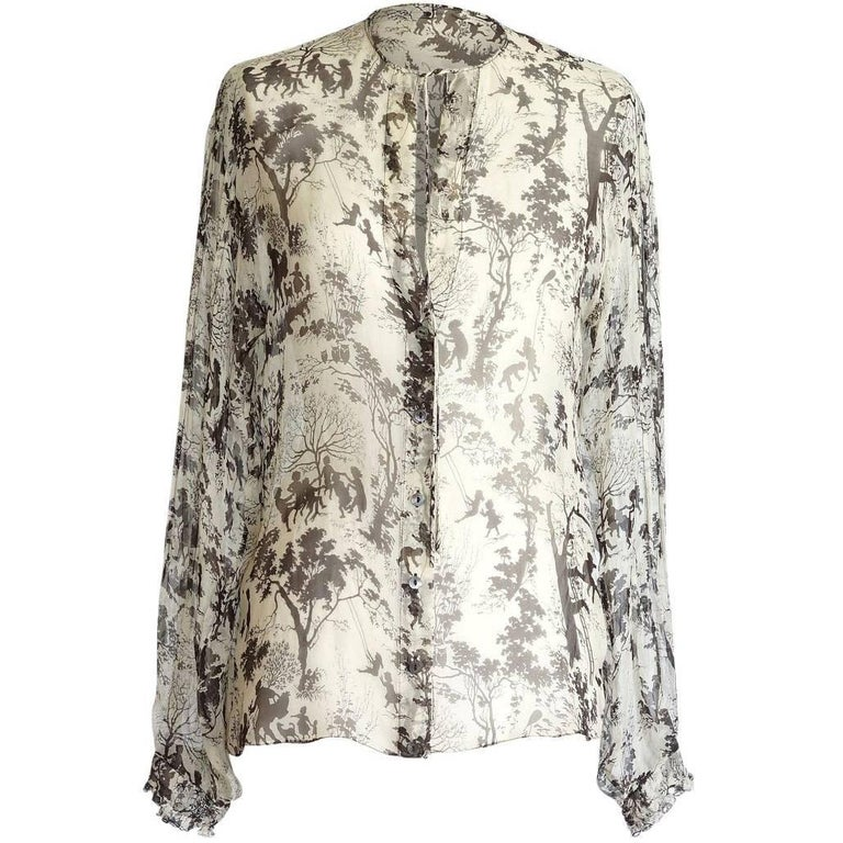 Dolce&Gabbana Top Beautiful Semi Sheer Idyllic Print  40 / 6