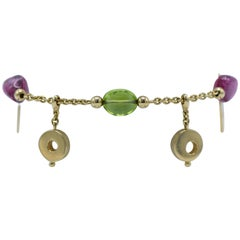 Dolce&Gabbana Tourmaline and Peridot Charm Bracelet
