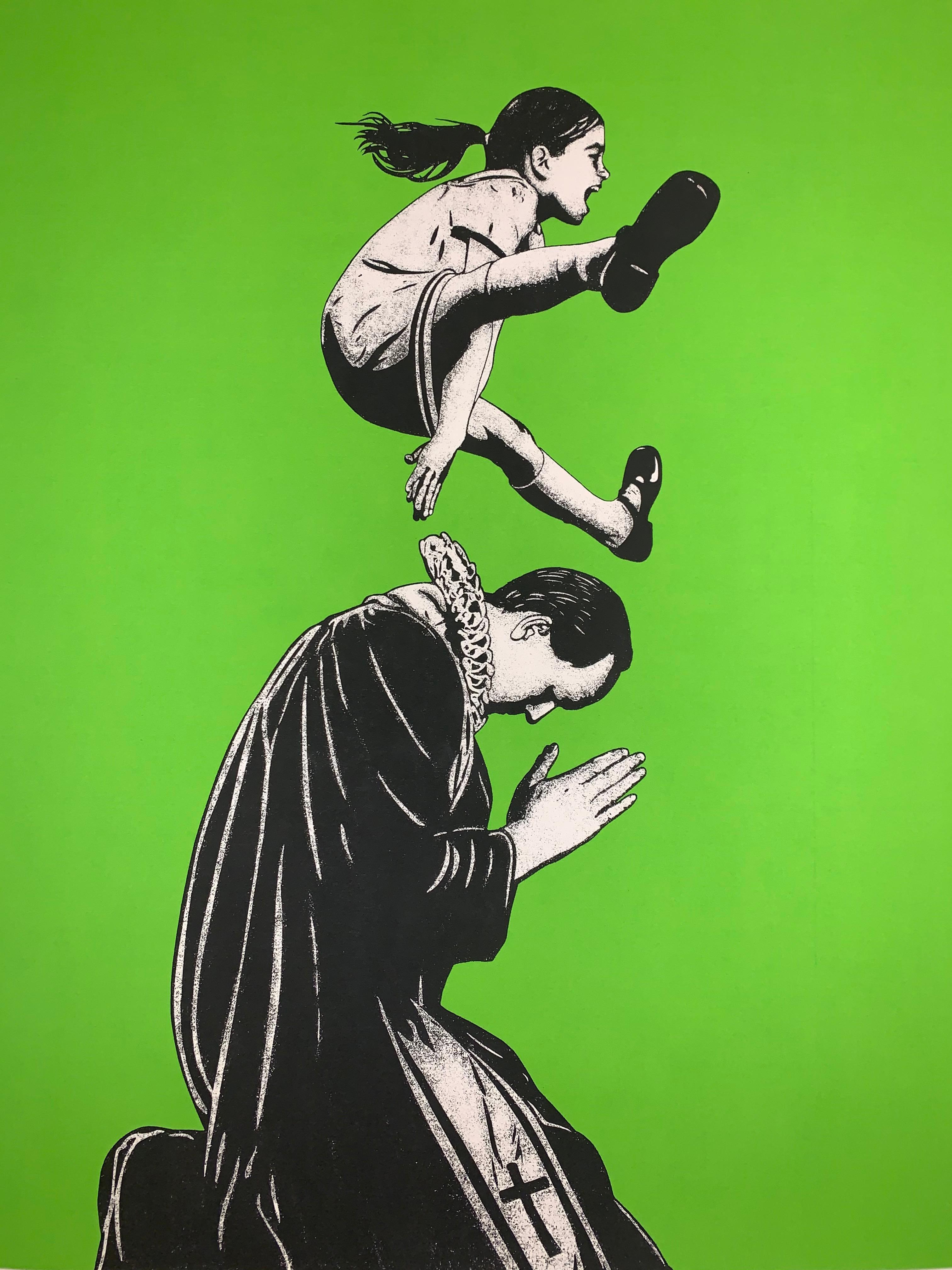 DOLK Lundgren Leap Of Faith Silk Screen Print Street Art Urban Signed & Numbered
