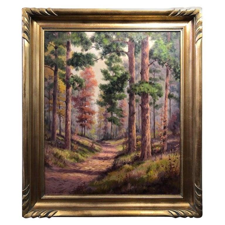 Dollie Nabinger Landscape Painting - Forest Road