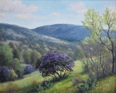 """""""MOUNTAIN LAUREL HILLS""""  Texas Hill Country PURPLE BLOOMS"""