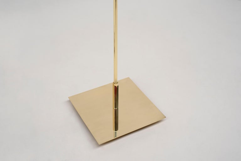 Dutch 21st Century Art Deco Style Glass and Brass Gloss 'Dolly' MW32 Floor Lamp  For Sale