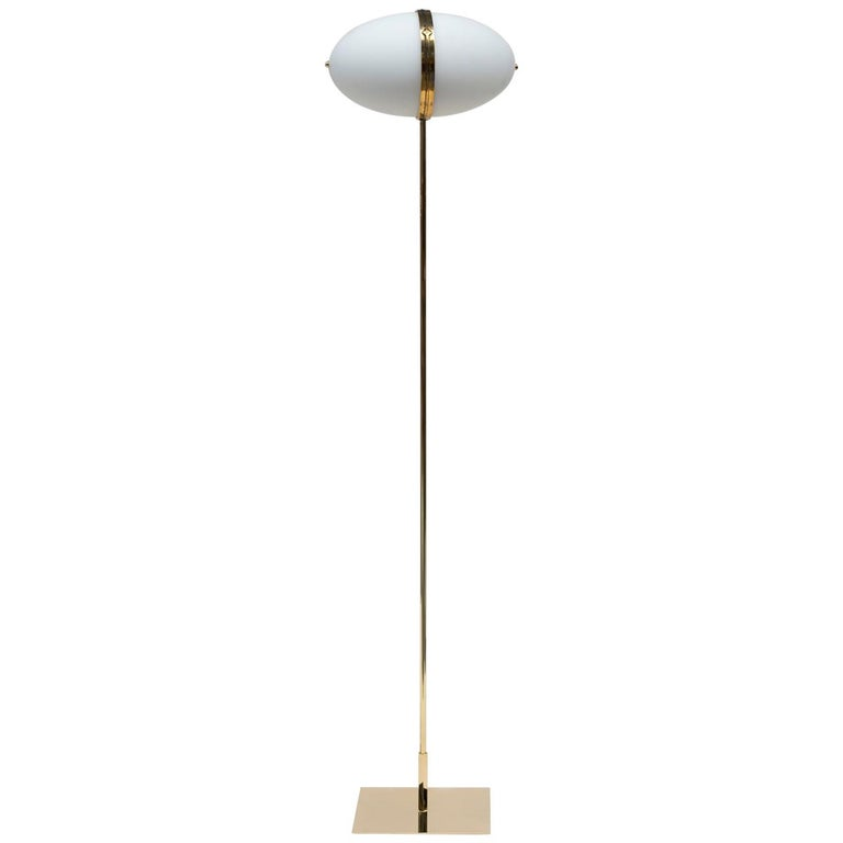21st Century Art Deco Style Glass and Brass Gloss 'Dolly' MW32 Floor Lamp  For Sale