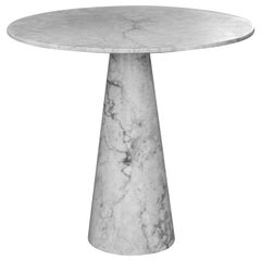 Dolmen White Marble Medium Side Table