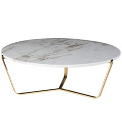 Dolomiti Calacatta Marble Low Coffee Table