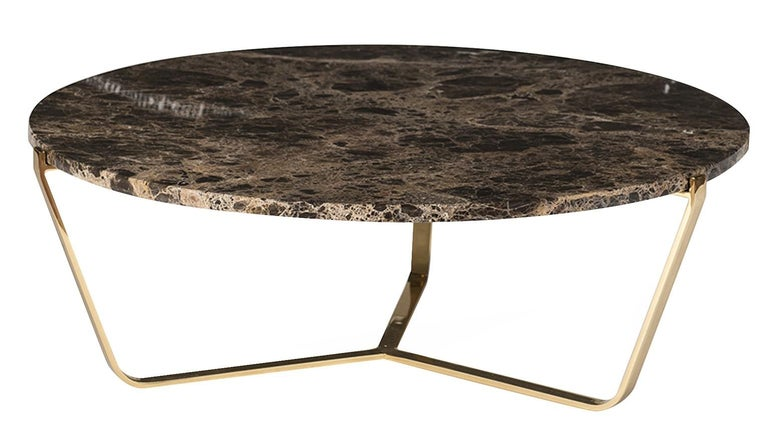 Dolomiti Emperador Marble Low Coffee Table In New Condition For Sale In Milan, IT