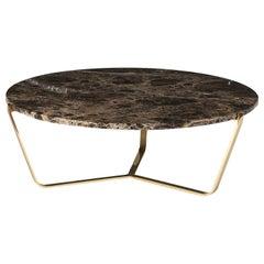 Dolomiti Emperador Marble Low Coffee Table