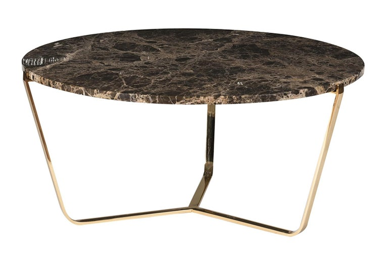 Dolomiti Emperador Marble Tall Coffee Table In New Condition For Sale In Milan, IT