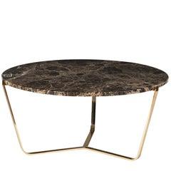 Dolomiti Emperador Marble Tall Coffee Table