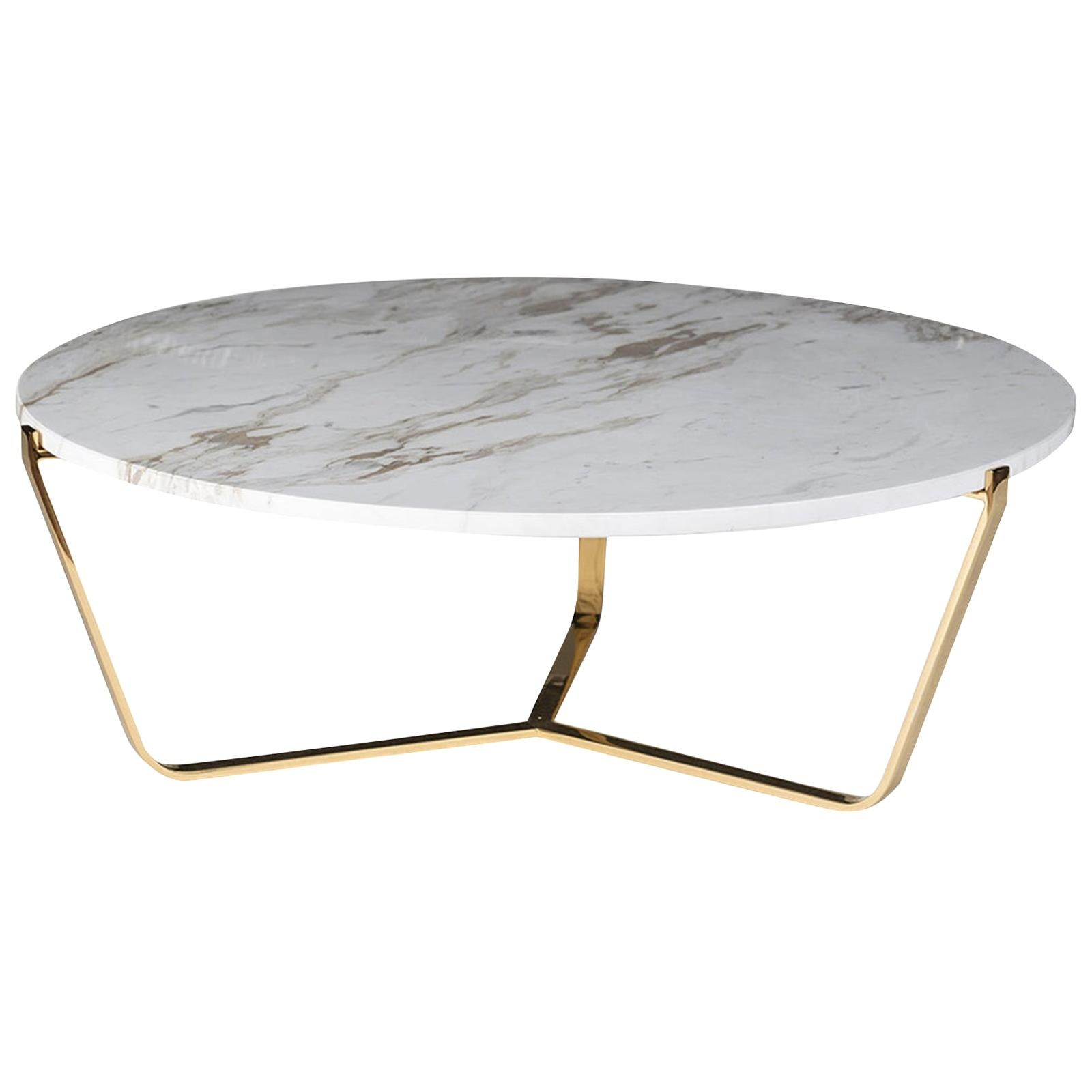 Dolomiti New Calacatta Marble Low Coffee Table