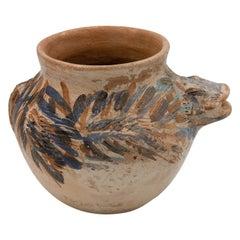 Dolores Porras Mexican Antique Rustic Vase Iguana Clay Made in Oaxaca, 2006