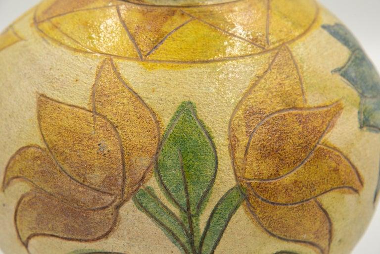 Contemporary Dolores Porras Mexican Antique Rustic Vase Terracotta Clay Handmade in Oaxaca For Sale