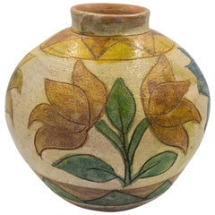 Dolores Porras Mexican Antique Rustic Vase Terracotta Clay Handmade in Oaxaca