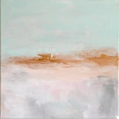 'Coming Home', Minimal Contemporary Abstract Landscape Acrylic Canvas Painting