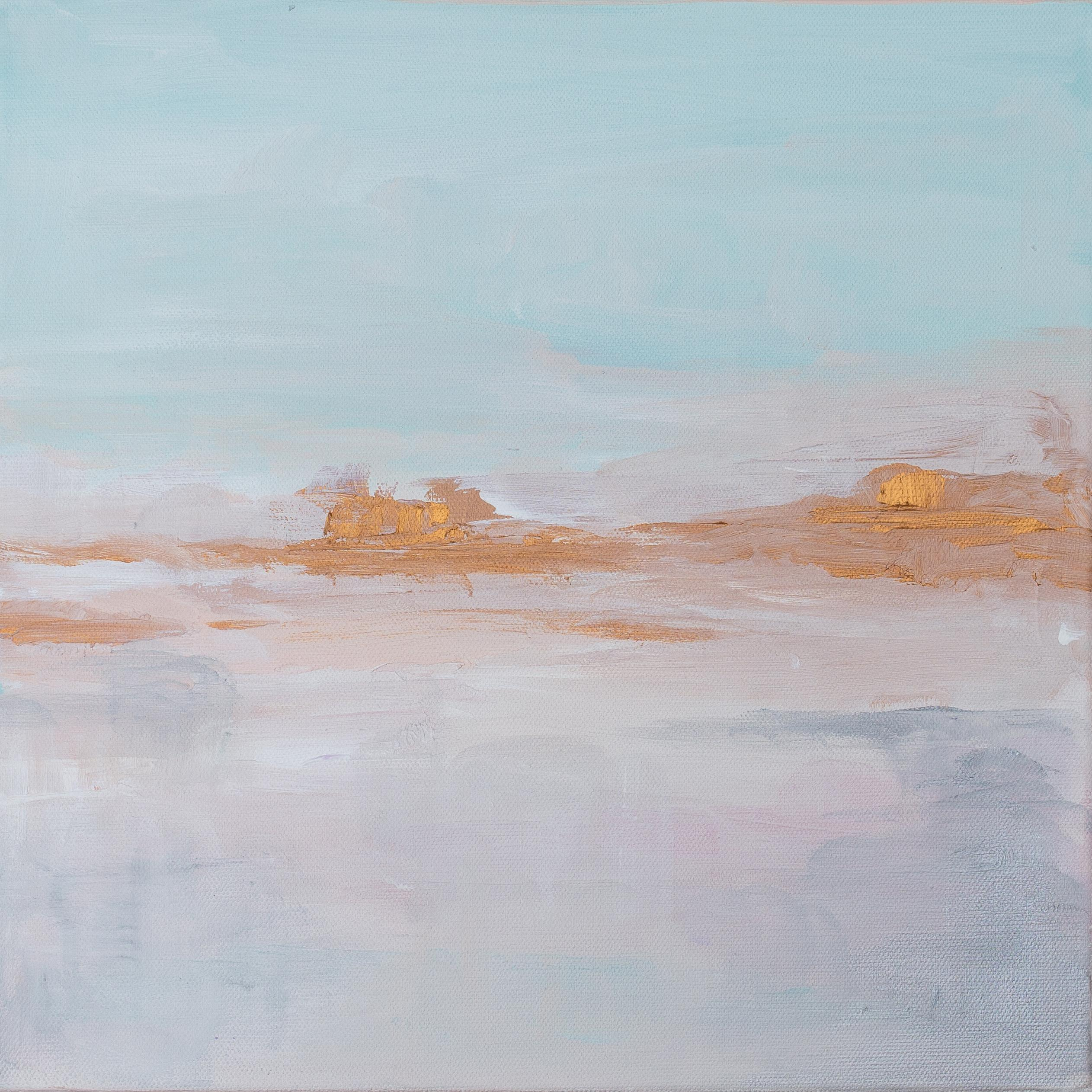 'Mist Rising', Minimal Contemporary Abstract Landscape Acrylic Canvas Painting