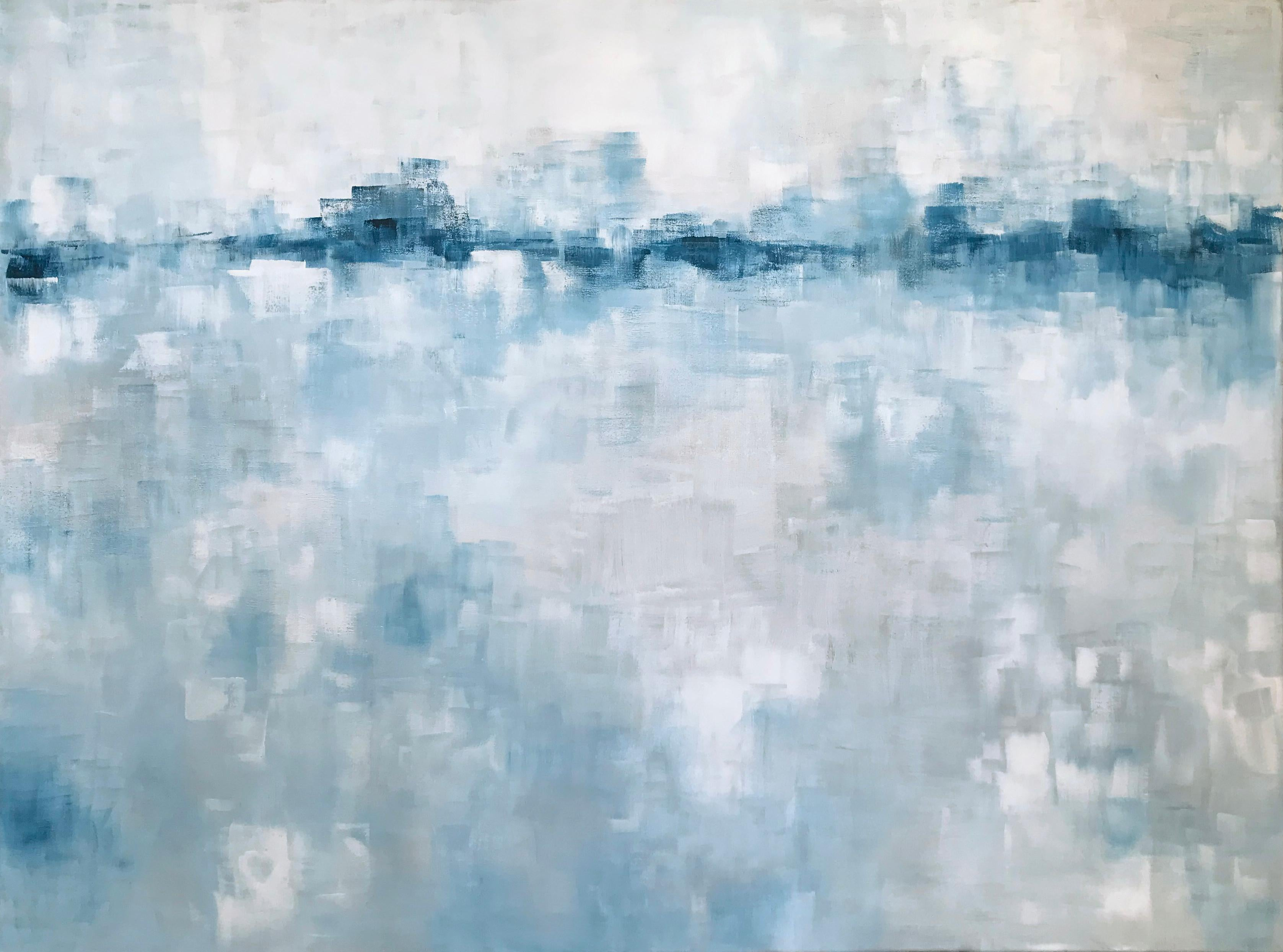 'Return to Yesterday', Minimalist Contemporary Abstract Acrylic Painting