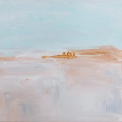 'Traveler's End', Minimalist Contemporary Abstracted Landscape Acrylic Painting