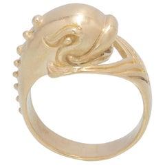 Dolphin Ring in 18 Karat Gold