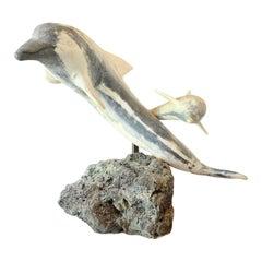Dolphin Statue Stone