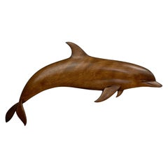 Dolphin Wood Wall Sculpture by Rob Roy Red Birch, San Diego CA 6/94