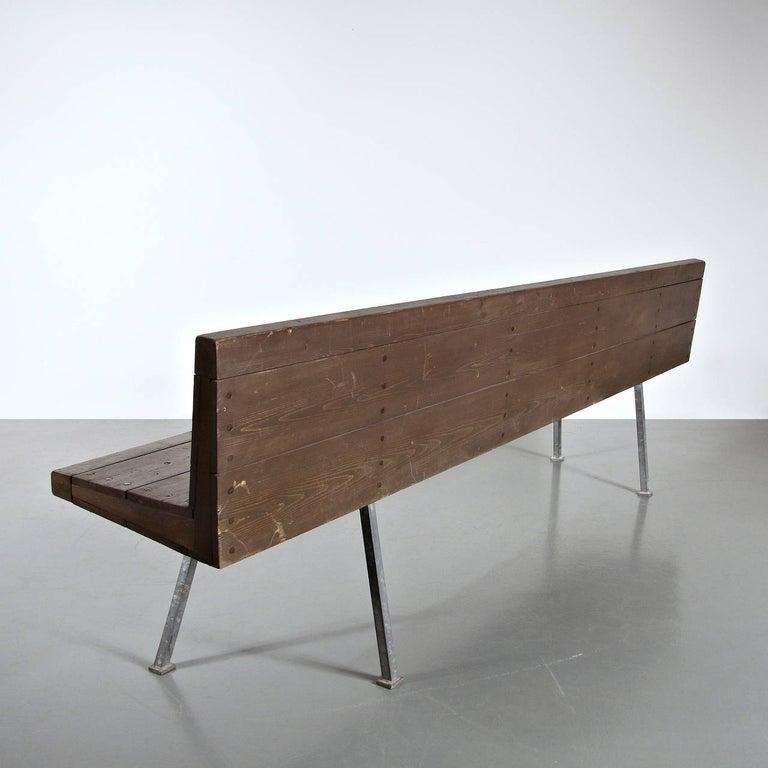 Mid-Century Modern Dom Hans van der Laan Bench, 1967 For Sale