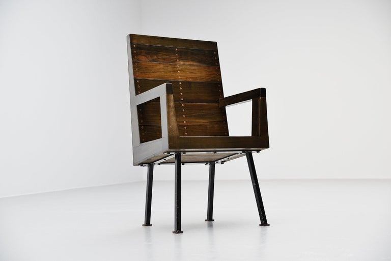 Mid-Century Modern Dom Hans van der Laan Chair for Town Hall Budel, 1966 For Sale