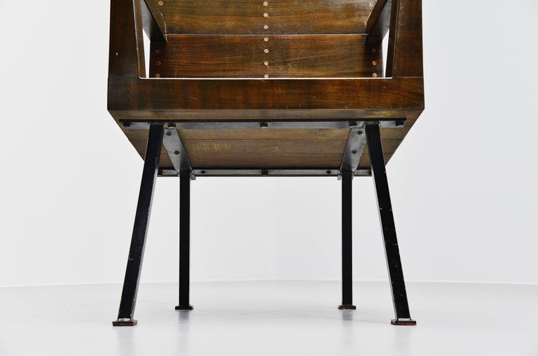 Cold-Painted Dom Hans van der Laan Chair for Town Hall Budel, 1966 For Sale