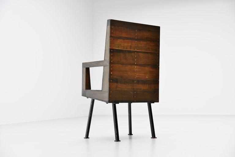 Dom Hans van der Laan Chair for Town Hall Budel, 1966 In Good Condition For Sale In Roosendaal, Noord Brabant