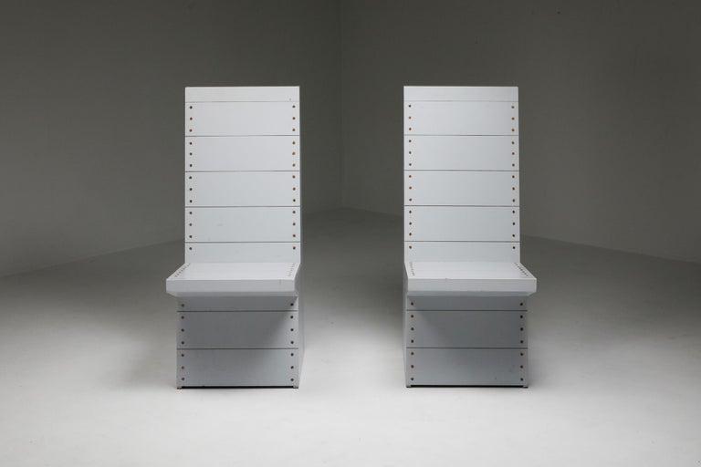 Mid-Century Modern Dom Hans van der Laan Chairs by His Apprentice Jan de Jong