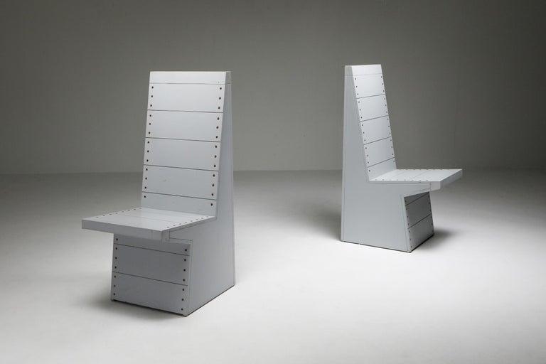 Dutch Dom Hans van der Laan Chairs by His Apprentice Jan de Jong