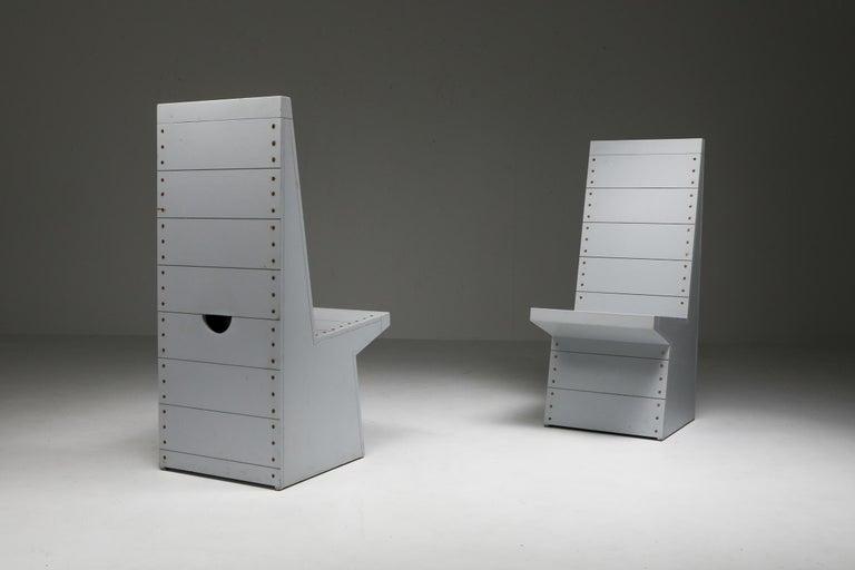 Dom Hans van der Laan Chairs by His Apprentice Jan de Jong In Excellent Condition In Antwerp, BE