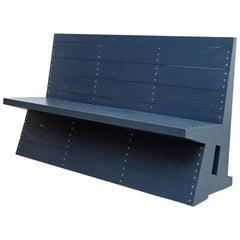 Dom Hans van der Laan Mid Century Modern Lacquered Blue Rational Bench