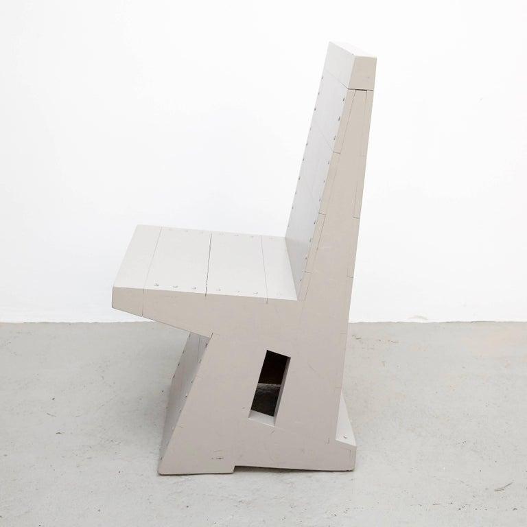 Mid-Century Modern Dom Hans van der Laan Grey Pair of Easy Chairs For Sale