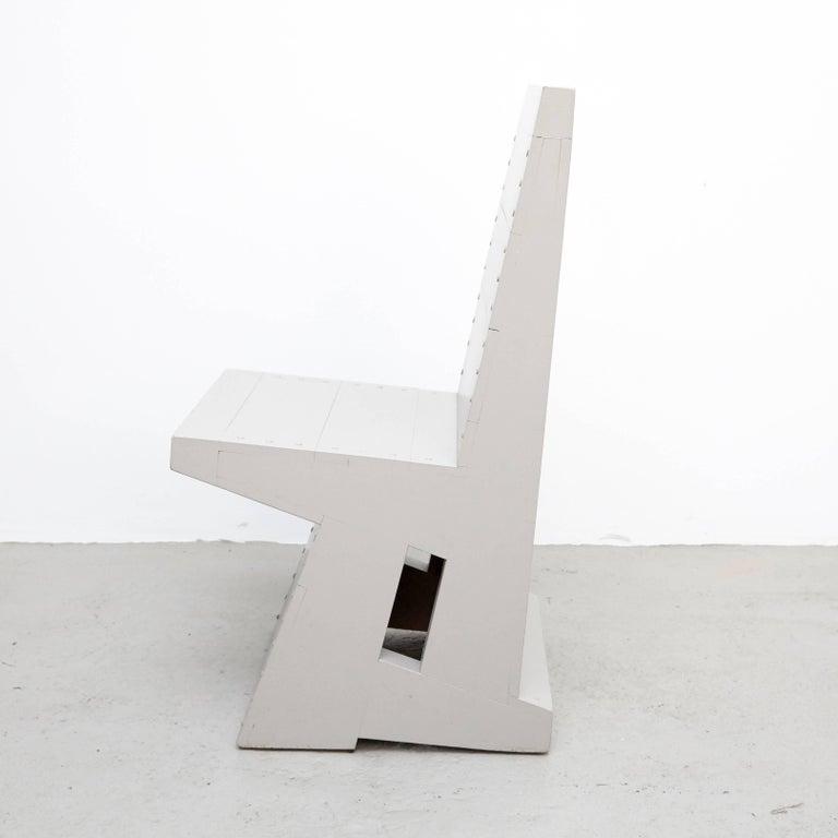 Dom Hans van der Laan Grey Pair of Easy Chairs In Good Condition For Sale In Barcelona, Barcelona